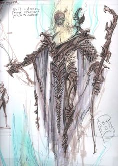 Dragon Priest concept art from The Elder Scrolls V: Skyrim by Adam Adamowicz