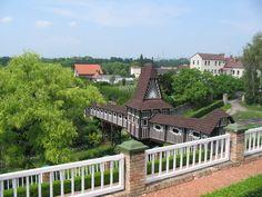 Zdobený zahradní most v Novém městě nad Metují