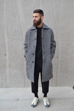 alkarus: Carven coat Damir doma pant AM95 sneakers Hair + Beard
