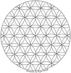 Blume Des Lebens Mandala Ausmalbilder Vorlage Mandalas Zum