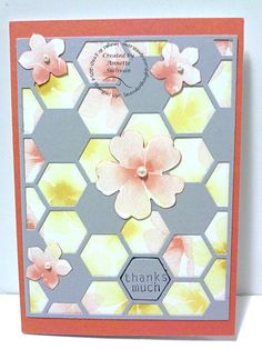 Lavender Thoughts Stampin' Up! Hexagon Hive Thinlits Die