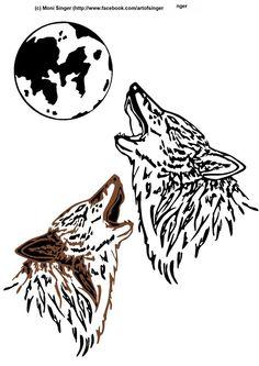 Silhouette plotter file free, Plotter Datei kostenlos, plotter freebie, Wolf…
