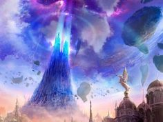 The Tower of Eternity - Aion VistaLore daily pics of beauty & imagination GameScapes screenshots gaming games Images pictures Fantasy Concept Digital Art Sci-Fi Science Fiction Environment Concept Art, Environment Design, Game Environment, Fantasy Places, Fantasy World, Casa Anime, Fantasy Pictures, Landscape Illustration, Fantasy Landscape