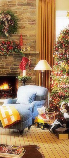 Christmas fireplace Christmas Pinterest Christmas fireplace - christmas fireplace decor