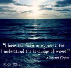 """Language of the waves"" quote via Rebel Thriver at www.Facebook.com/RebelThrivers"
