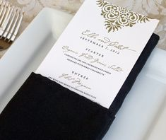 reception menu, wedding dinner menu, menu by invitations by ajalon