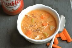 This simple slow cooker buffalo chicken chowder is perfect for a chilly fall/winter day, and makes a great dish to enjoy during football season! Buffalo wing sauce is quite delicious to me; one of my favorite condiments! I am girl who loves tang,. Slow Cooker Stew Recipes, Best Slow Cooker, Crockpot Recipes, Soup Recipes, Chicken Recipes, Cooking Recipes, Slower Cooker, Dinner Recipes, Free Recipes