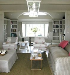 Veere Grenney--Beach House, Living Room, Long Island