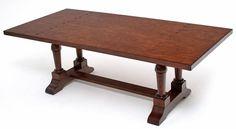 "Elegant Rustic Dining Table - Trestle Base - Birch with 12 Step Valspar Finish - Item #DT00467 - 90""L x 43""W x 31""H"