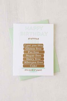 Paper Bandit Press Paper Cake Birthday Card - Urban Outfitters