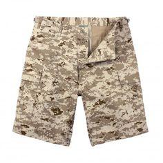 Desert Digital Military Style BDU Shorts