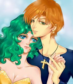 Haruka and Michiru by OkyDraft.deviantart.com on @deviantART