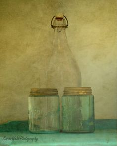 Fine Art Photography Old Mason Jars Glass by KarenWebbPhotography