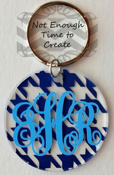 Acrylic Monogram Keychains by NotEnoughTime2Create on Etsy - Find us on FB, Etsy and Storenvy.