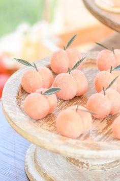 Peach Cupcakes, Peach Cookies, Peach Cake, 1st Birthday Girls, First Birthday Parties, First Birthdays, Birthday Ideas, Birthday Sweets, Birthday Photos