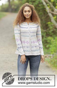 Candy Lane Cardigan by DROPS Design. Free #knitting pattern