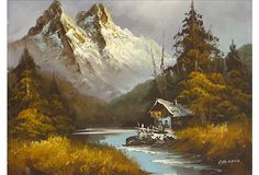 paintings of mountain scenes - Google Search