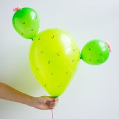 Cacti and balloons are all the rage right now, so you can't go wrong by combining the two! See how easy it is to make these cactus balloons!