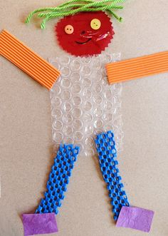 Could this be a Mat Man idea? How about a tactile Mat Man using several textured items to make him? Five Senses Preschool, 5 Senses Activities, My Five Senses, Preschool Crafts, Preschool Activities, Toddler Crafts, Crafts For Kids, Kids Diy, Mat Man