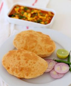 bhature recipe for chole bhature bhature or bhatura recipe. instant bhature recipe without yeast. bhature goes well with amritsari chole. how to make bhature Indian Bread Recipes, Recipes With Yeast, Cooking Recipes, Bhatura Recipe, Punjabi Food, Bread Rolls, How To Make Bread, I Love Food, Snacks