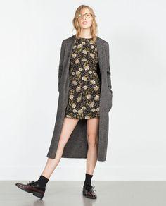 Image 1 of FULL SHORT PRINTED DRESS from Zara