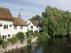 The River Blackwater from King Stephen's Bridge, Coggeshall, Essex, England