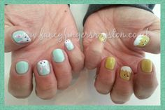 Easter bunnies and spring chicks nail art Easter Bunny, Fingers, Bunnies, Nail Art, Fancy, Create, Nails, Spring, Beauty
