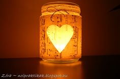 Romantikus mécses befőttesüvegből Hobbit, Blog, Diy, Wedding, Home Decor, Valentines Day Weddings, Decoration Home, Bricolage, Room Decor