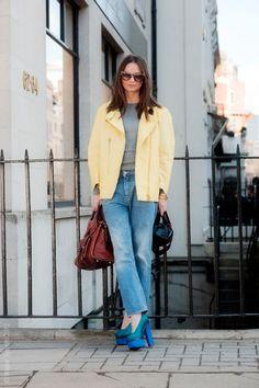 Pastel yellow jacket