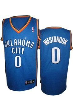 Russell Westbrook Jersey, Oklahoma City Thunder #0 Embroidered Blue NBA JerseyID:1415$20