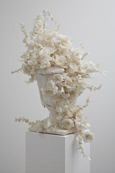 dipping things in plaster | Plaster Flowers