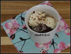 Chocolade-noten mug cake - Slank4u2