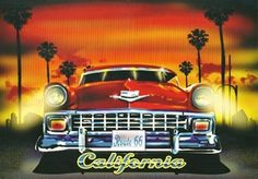 POSTCARD CALIFORNIA ROUTE 66 CAR Route 66 provided a sense of freedom to early travelers and the section of the old highway that passes through California was no exception. From the great Mohave desert to the beautiful ocean, California is a state of great contrasts. Postcard size 4 x 6
