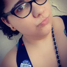 Did you vote today? We sure did and so did @queridajuana rocking the vote in #Miami #florida wearing her Poly plugs.  Wholesalers and #piercers we have these in stock so comment below or call us!  #tawapa #polyplugs #gauges #plugs #plugsporn #vote #electionday2016