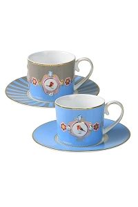 PiP Love Birds Cup and Saucer Cappuccino Blue