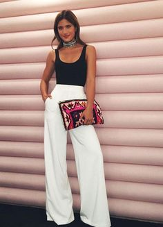 f0a313da5924 40 Amazing White Wide Leg Pants Outfits to Wear This Summer