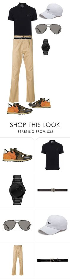 """""""At golf"""" by jesica-d-psc on Polyvore featuring Valentino, Moschino, Citizen, Yves Saint Laurent, Vilebrequin, Vineyard Vines, Fortela, Lanvin, men's fashion and menswear"""