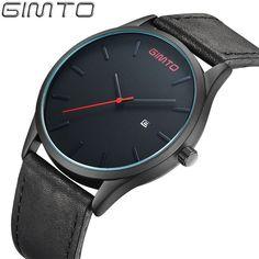 GIMTO Top Men Simple Quartz Sport Watches Brand Army Military watch Quartz-watch Clock Waterproof Wrist Men's Relogio Masculino