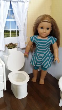 American Girl Doll Crafts and Fun!: Craft: Make a Toilet for Your Doll
