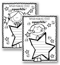 Use these FREE worksheets to help students to acknowledge what makes them 'sparkle' - Learning with Sunflower Smiles Creative Teaching, Creative Writing, Teaching Ideas, Preschool Ideas, Teaching Resources, Star Of The Week, Classroom Behavior, Classroom Resources, Star Students
