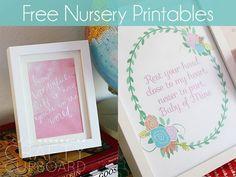 Free #Nursery #Printables by The Crafty Cupboard   Mabey She Made It #nestingtonewborns