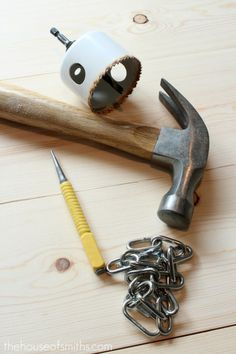 Tool ideas for giving wood that distressed look.