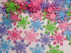100 Mixed Bright Snowflake Paper Punches Die by SewPrettyInVermont, $3.50