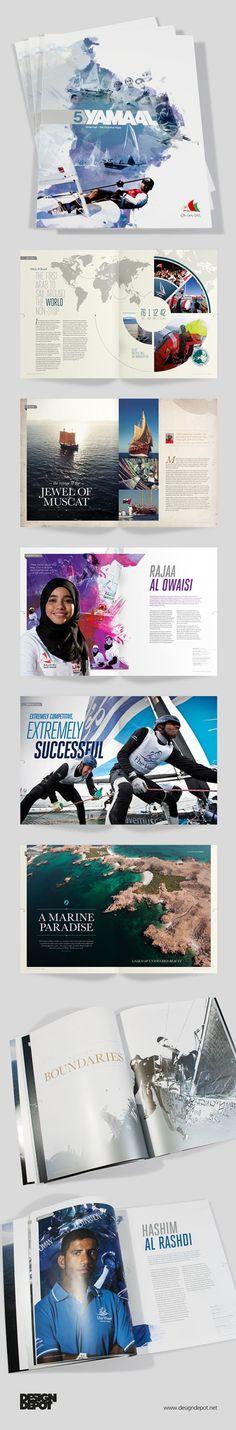 Yamaal brochure, artwork, Oman Sail, Muscat, identity, branding, design depot, prospectus, arabic, graphics, Northamptonshire #DesignDepot