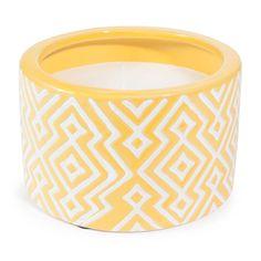 Bougie en céramique jaune LOSANGES