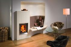 Modern tiled stoves give your home style and coziness - Decoration Solutions Style At Home, Living Room Designs, Living Spaces, Modern Stoves, Stove Fireplace, Home Hacks, Home Projects, Foyer, Bean Bag Chair