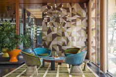Indoor glazed stoneware wall/floor tiles TANGRAM - CERAMICA BARDELLI