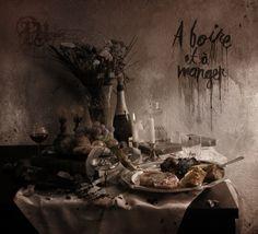 Pensées Nocturnes - A Boire et A Manger Artwork by Cäme (came-rdr.tumblr.com) Nocturne, Cd Artwork, Black Art, Album Covers, Painting, Inspiration, Tumblr, Eat, Thinking About You