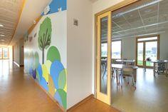 Aula e disegno del corridoio