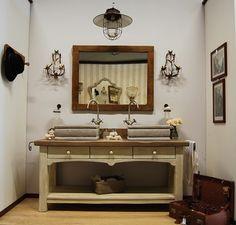 mobile da bagno in stile provenzale con base in abete antico ...